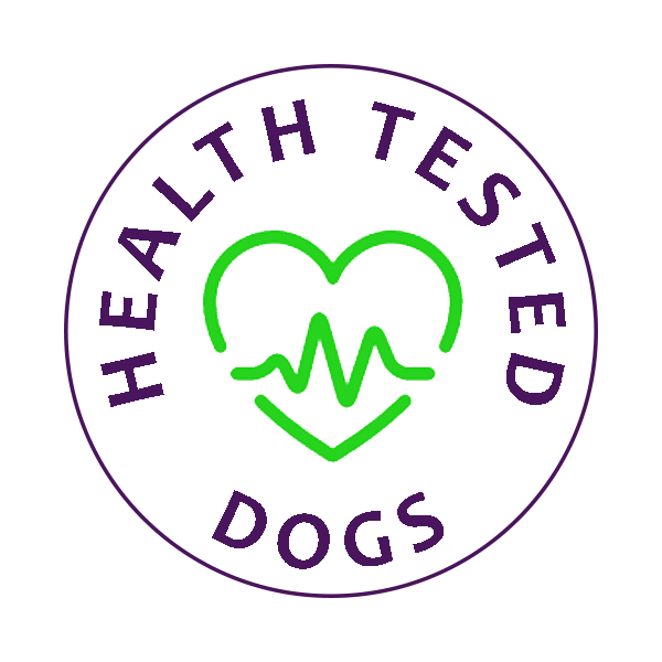 health tested dogs badge
